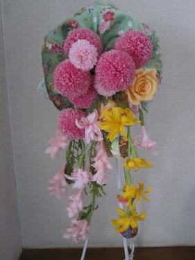 和ブーケポンポン菊(¥17,000~)