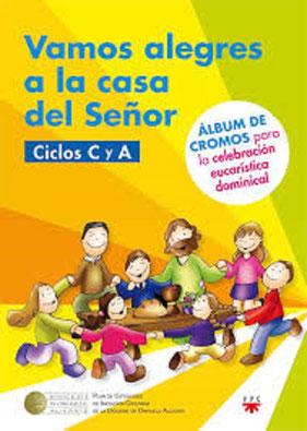 Libro que trabajan los niños en la sacristía durante la homilía