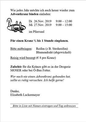 Adventkranzbinden Einladung (PDF)