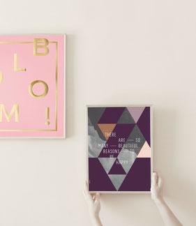 Typografie Poster und Prints