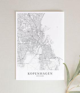 Karten und Maps als Poster Print Wandbild