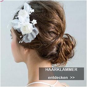 Haarklammer Hochzeit - Braut Haarklammmer Perlen Blumen Strass