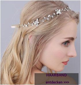 Retro Stass Perlen Haarband Kopfband Haarschmuck Kopfschmuck Braut Kopfschmuck