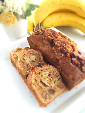 バターを使わないバナナケーキ