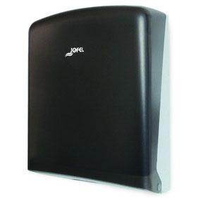 Despachador de toalla interdoblada Z DT33002 Color: Transparente con base gris Dimensiones en milímetros: Alto: 365 Largo: 275 Ancho: 125 Capacidad: 600 toallas Contenido por caja: 2 piezas