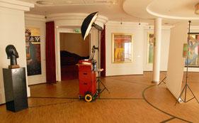 de Coverstudio in het Circustheater voor Beau Monde