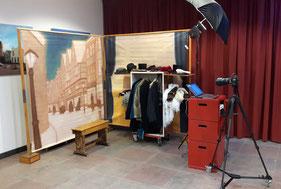 Foto van de Dickensstudio op de kerstreceptie van gemeente Nissewaard.
