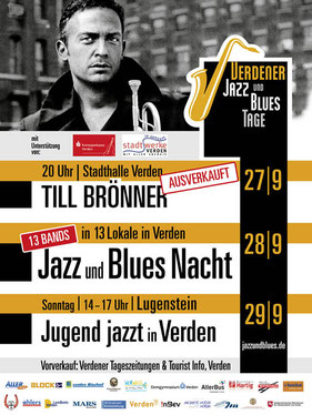 Plakat Verdener Jazz und Blues Nacht 2013