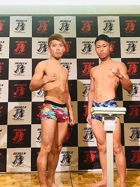 ストラッグル所属 老沼隆斗(左)