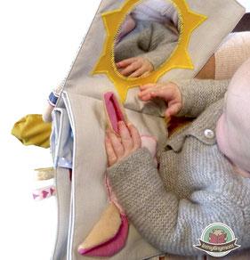 Babybuch aus Stoff, Nähanleitung, Schablonen, Schritt für Schritt