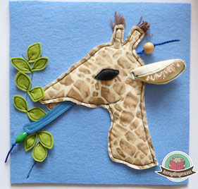 freebook Quiet book Touch and feel book Giraffe template freebook