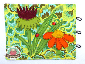 How to sew a quiet book with bugs and beetles.