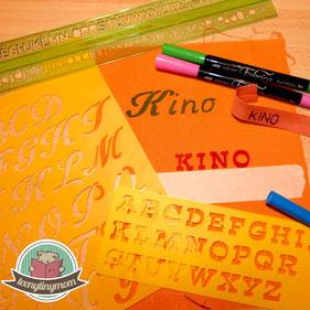 Textile marker pens, quiet book, tips