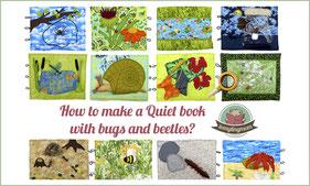 Quiet book beetle bugs template