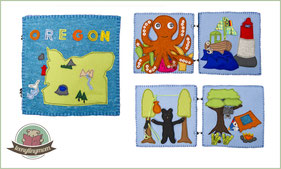Oregon Quiet book Toddler Tutorial Freebook