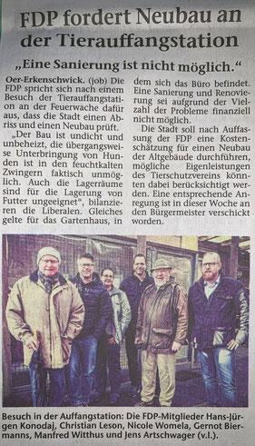 Artikel der Stimberg Zeitung vom 13.03.2019