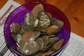 Kieselsteine für die Seifenschale, kleine Perlenwerkstatt
