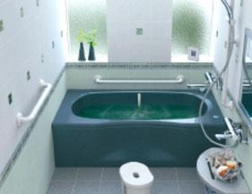 浴室の手すり取り付け工事