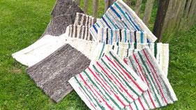handgewebte Teppiche Sitzauflagen Schafwolle