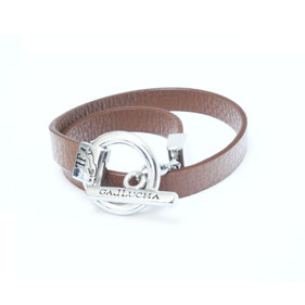 GALLUCHA MAROQUINERIE ACCESOIRE ISIS BRACELET CUIR NAPPA  CAMEL