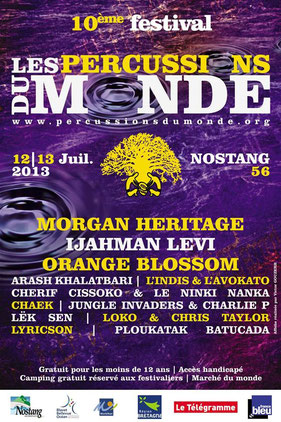 festival breton percussions du monde 2013