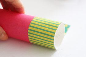 トイレットペーパーの芯に巻きつける