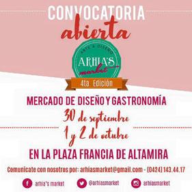 Arhia's Market - 4ta Edición Diseño Venezolano y Gastronomía