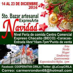 5to. Bazar Artesanal ExpresArte Navidad