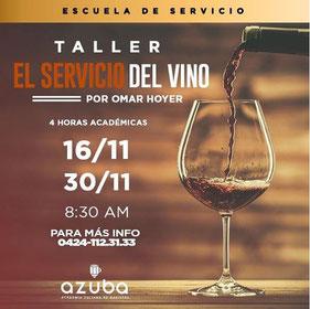 Taller El Servicio del Vino - Azuba