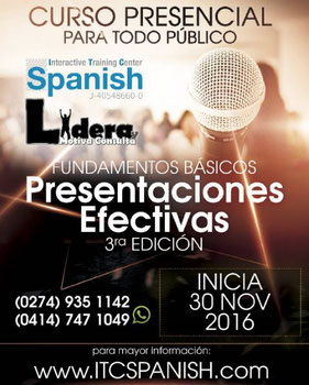 Curso Presentaciones Efectivas 3era Edición - ITC Spanish