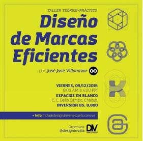 Taller Diseño de Marcas Eficientes - Design In Venezuela