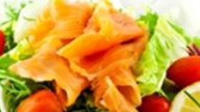 Salade au saumon fumé