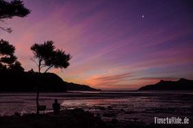 Neuseeland - Motorrad - Reise - traumhafte Motorradstrecken - Camping am Whanganui Inlet, einer Meeresbucht westlich des Farewell Spit