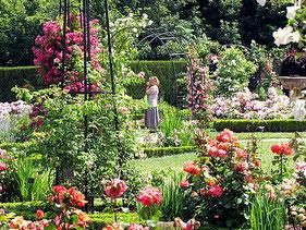 Le Jardin de Roses du Parc floral de Digeon - Parcs et Jardins de Picardie
