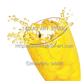 NRD2953 グラス コップ入り飲料イラスト シズル感