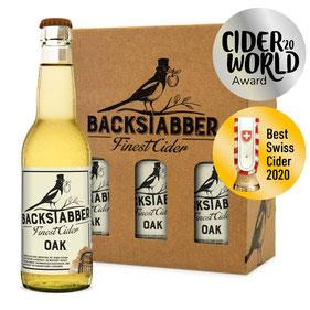 Cider Award 2020 Silver winner Backstabber Oak, Most aus der Schweiz