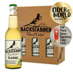 Cider Award 2020 Gold winner Backstabber Classic, Most aus der Schweiz