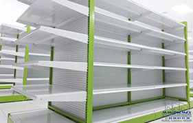 Góndola metálica para supermercado