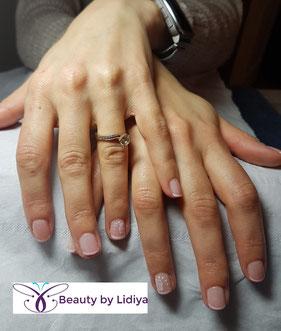 beautifull french wedding nails cnd shellac hand made nail art