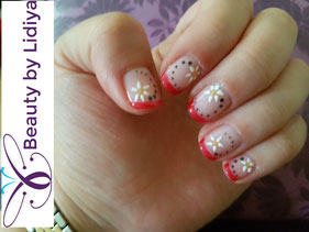 french flowers fresh cnd shellac hand made design ideas