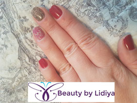 nail art stamping cnd shellac design ideas