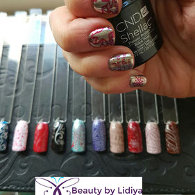 stamping cnd shellac ideas nail art