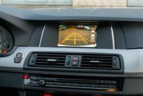 Bild der Rückfahrkamera auf dem BMW Navi Business