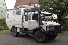 Mercedes Unimog Expeditionsfahrzeug mit Hifiumbau Aussenansicht