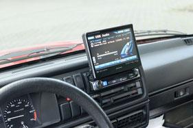 Alpine IVE-W511R Moniceiver im Armaturenbrett als headunit mit USB und Bluetooth freisprecheinrichtung