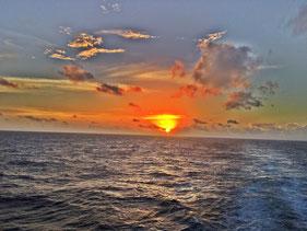 Auf See Richtung Miami