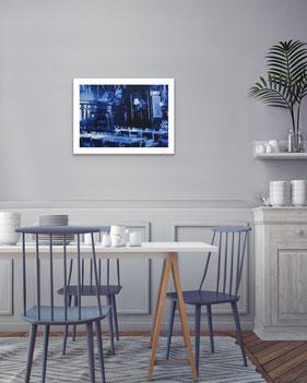 Restaurant Basel blue tones
