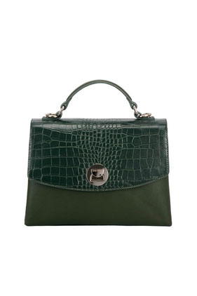 CM5852 Sac cartable aspect croco David Jones vert