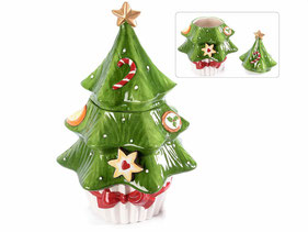 Pot en forme de sapin de Noël