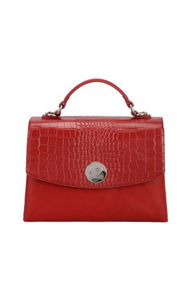 CM5852 Sac cartable aspect croco David Jones rouge